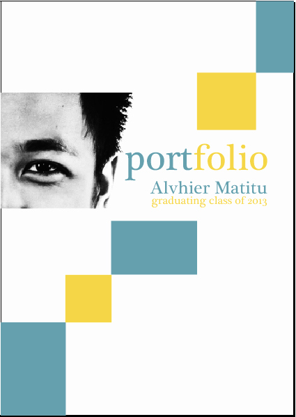 Portfolio Cover Page Template Free Download the Best