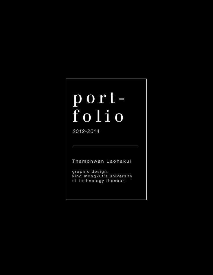 Portfolio Cover Page Template