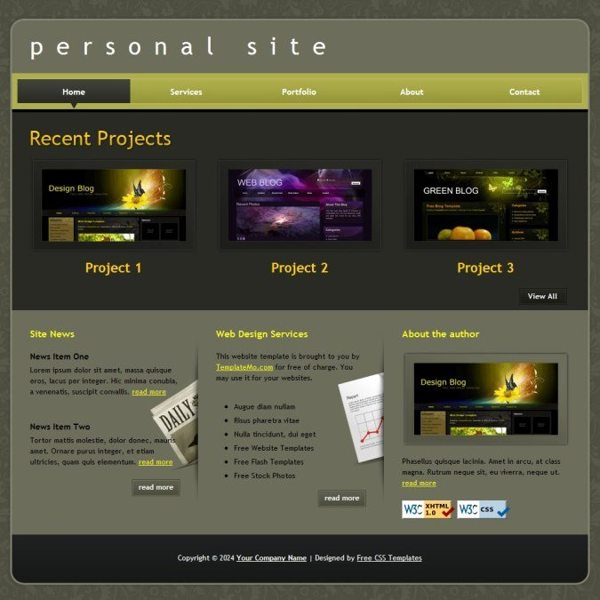 Portfolio – Free HTML Website Templates
