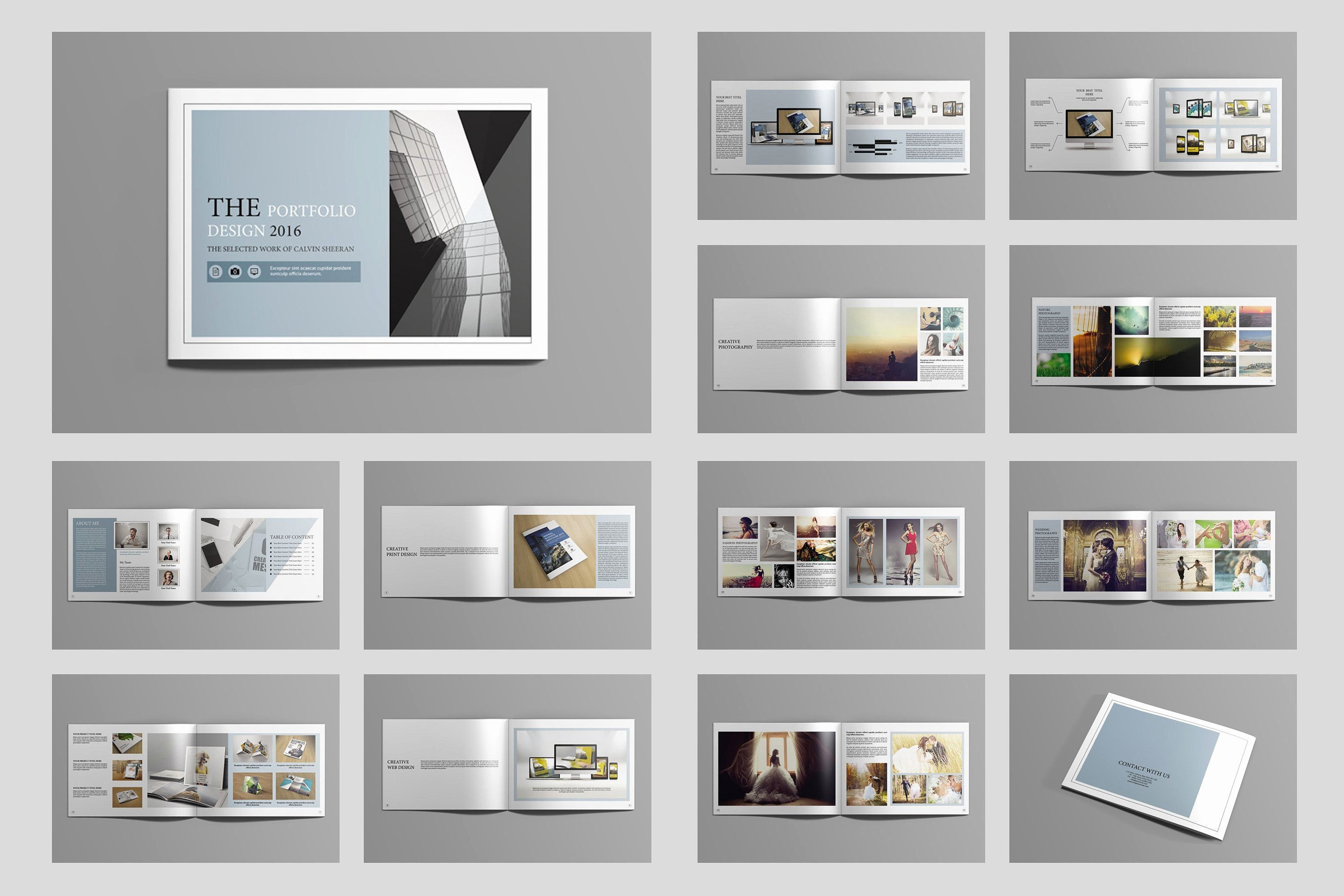Portfolio Sample Indesign Save Free Indesign Portfolio