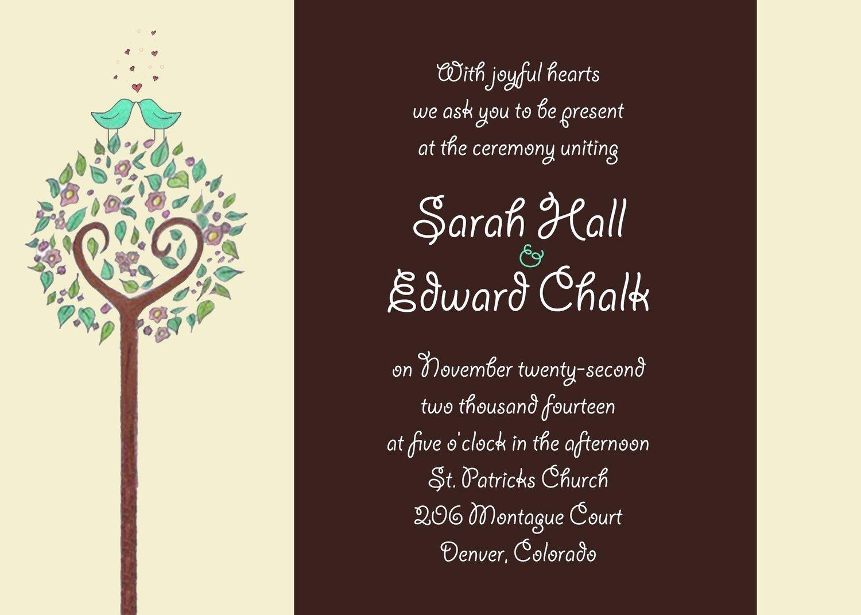 Post Wedding Reception Invitations