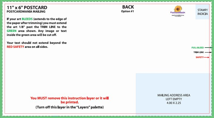 Postcard Design and Mailing Free Templates
