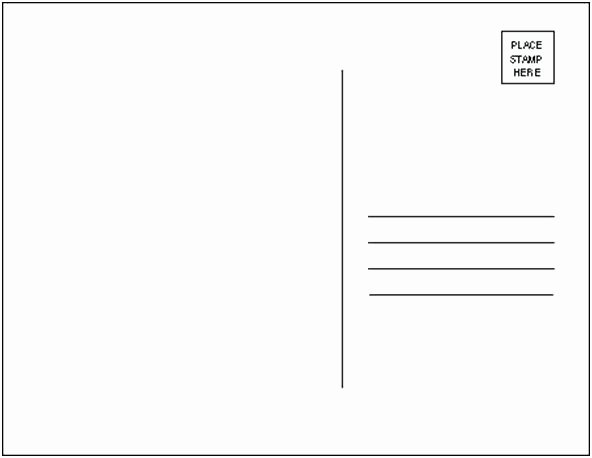 Postcard Template for Word X Templates Cards 5×7 Postcard