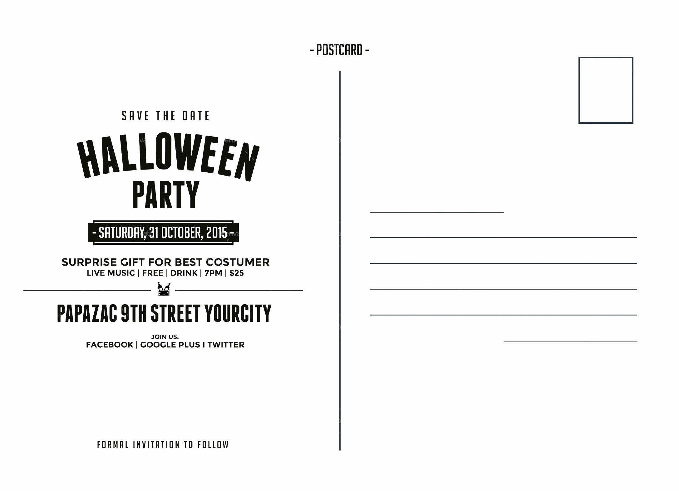 Postcard Template Front and Back