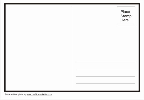 Postcard Template Word Beepmunk