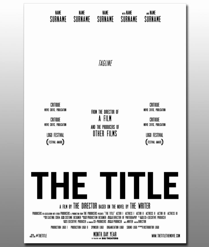 Poster Movie Poster Template