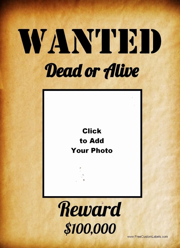 Poster Wanted Poster Template