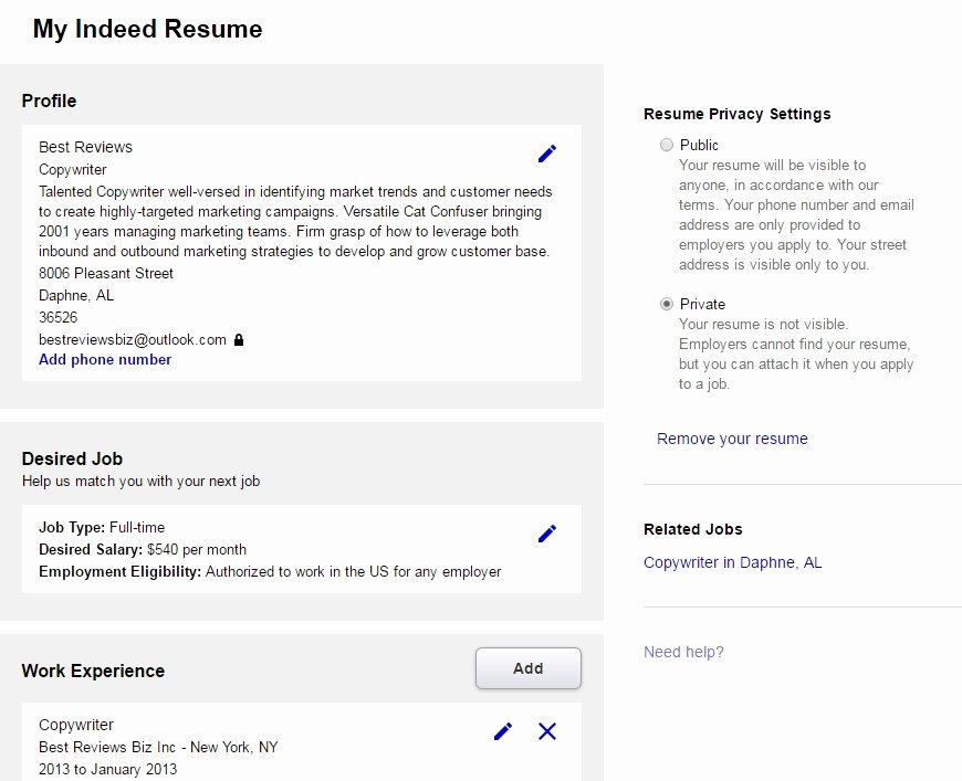 Posting Resumes Line Best Resume Collection