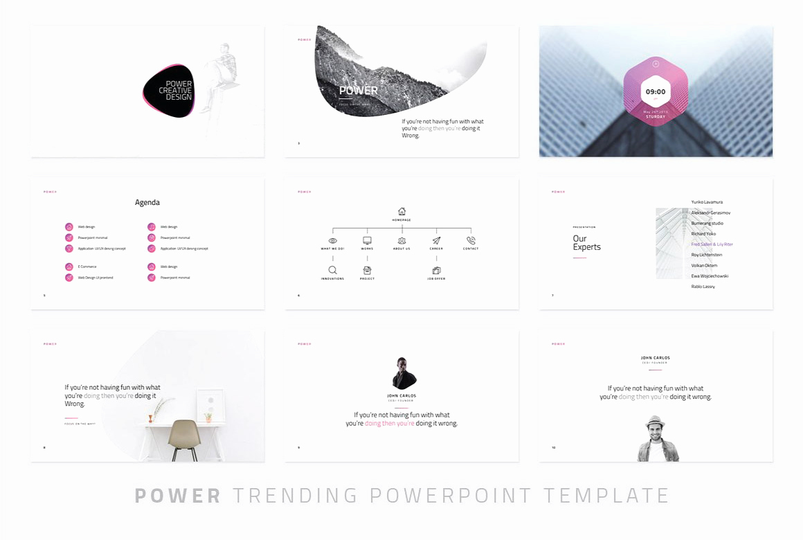 Power Modern Powerpoint Template Just Free Slides