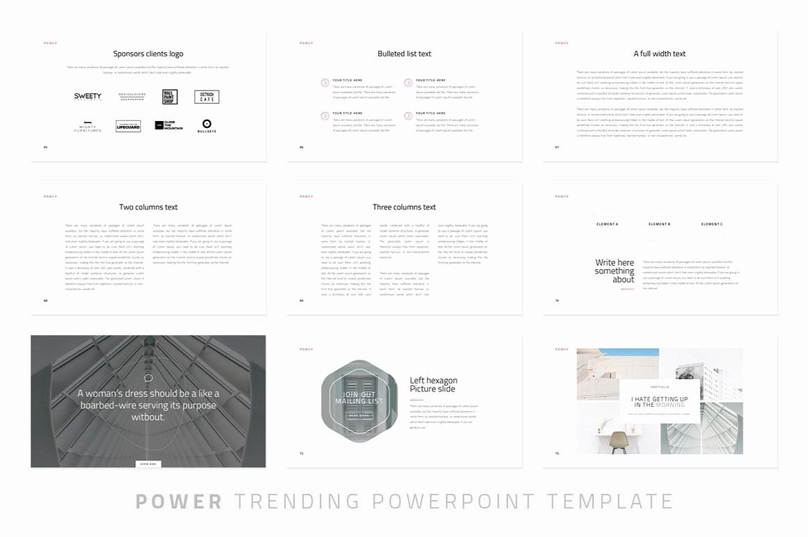 Power Modern Powerpoint Template Just Free Slides