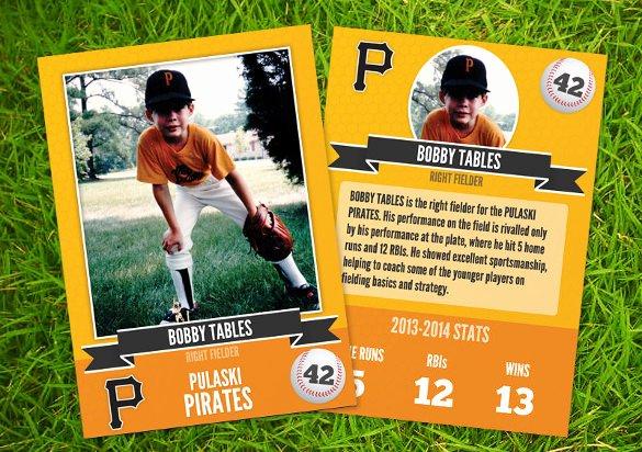 Powerpoint Baseball Card Template Bountrfo