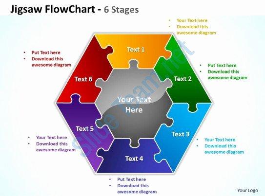 Powerpoint Flowchart Templates Circular Jigsaw Puzzle