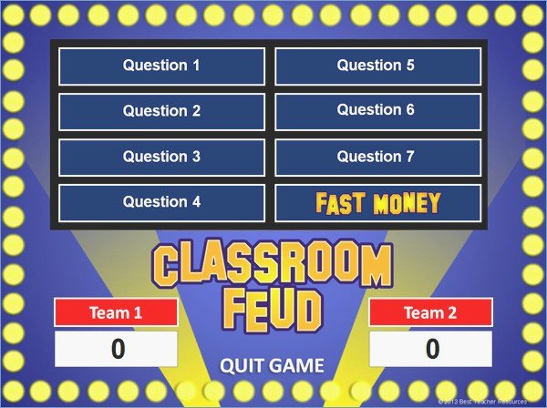 Powerpoint Game Show Templates Family Feud Briskifo