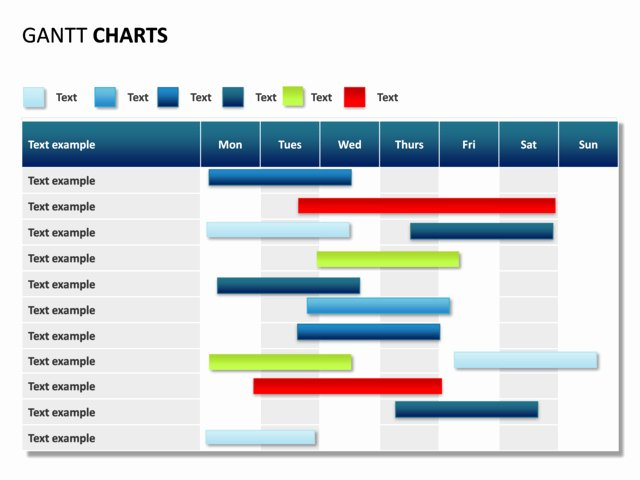 Powerpoint Slide Gantt Chart 7 Days 11 Rows P31 3