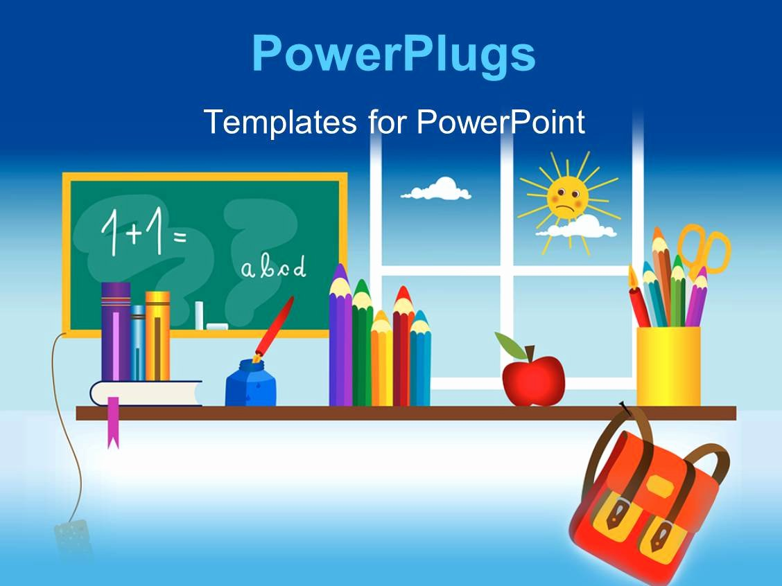 Powerpoint Template A Classroom Setting with Lots Of