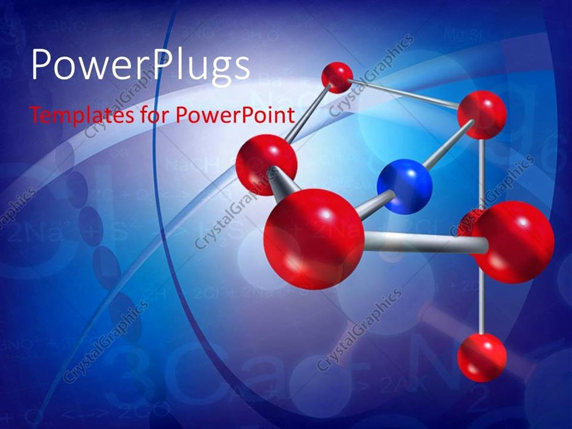 Powerpoint Template Abstract Scientific Background with