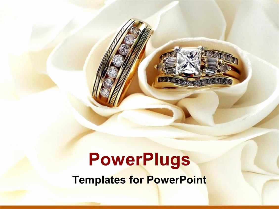 Powerpoint Template Gold Wedding Bands Wedding Rings with