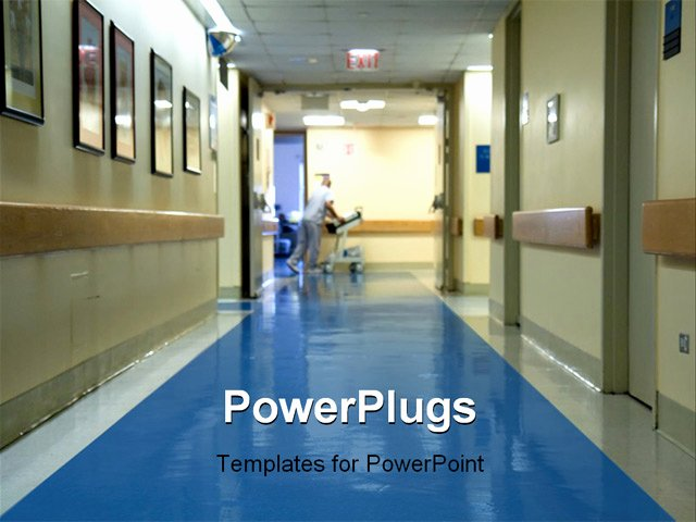Powerpoint Template Hospital Corridor with A Blurred