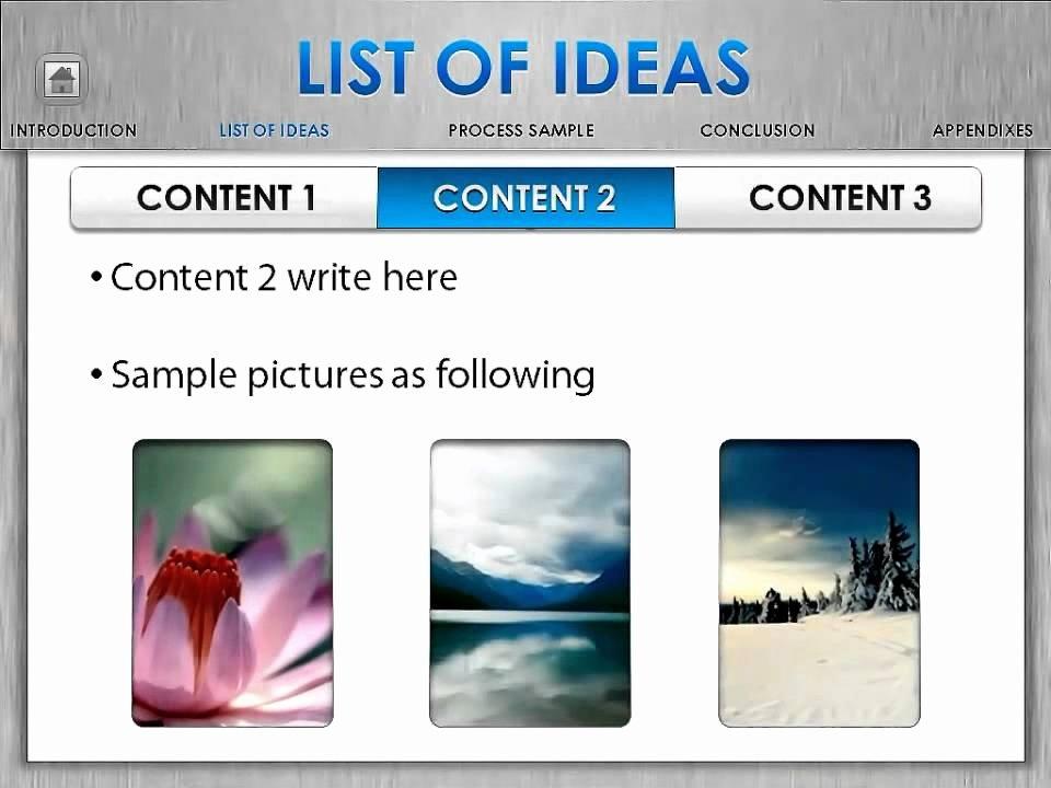 Powerpoint Template Mac Style Presentation Motivate Future