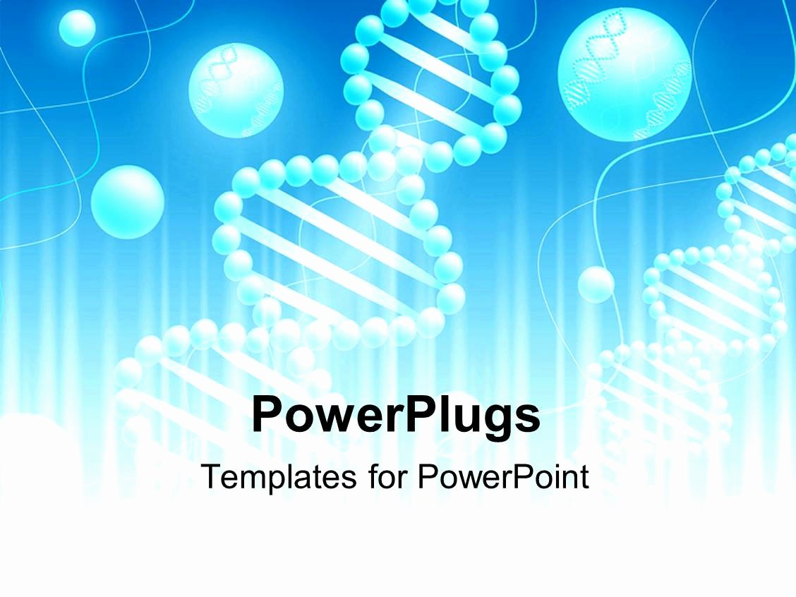 Powerpoint Template Science Background with Dna theme In