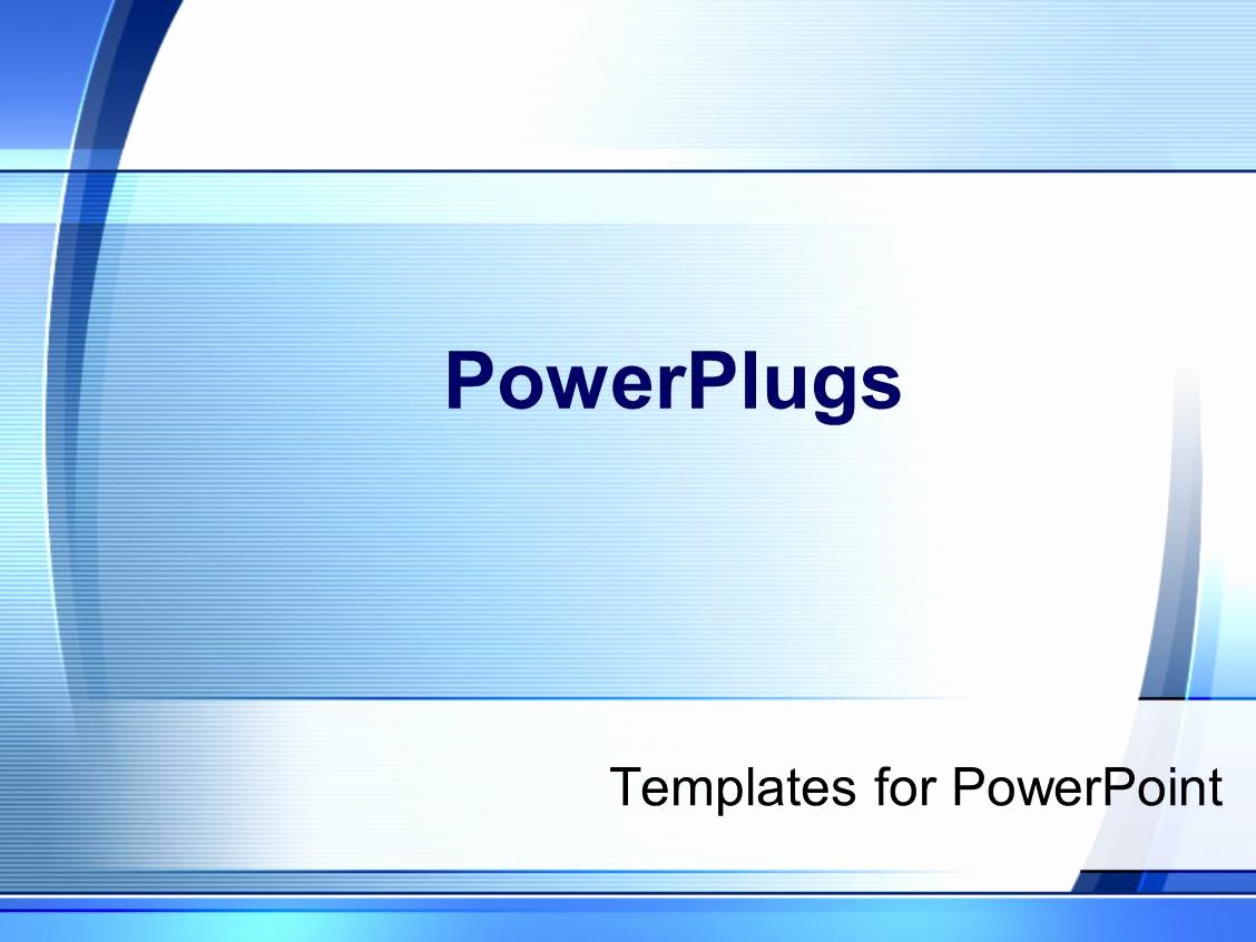 Powerpoint Template Simple Modern Blue and White