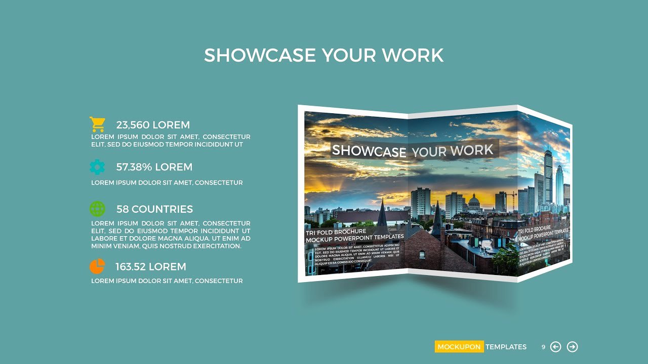 Powerpoint Tri Fold Mock Up Template