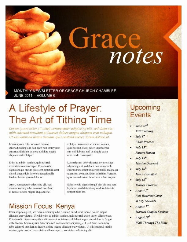 Prayer Church Newsletter