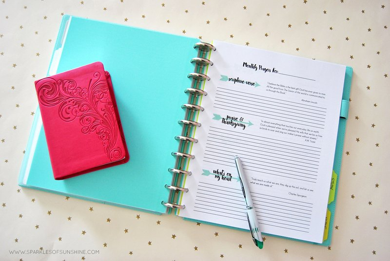 Prayer Journal Free Printables Sparkles Of Sunshine