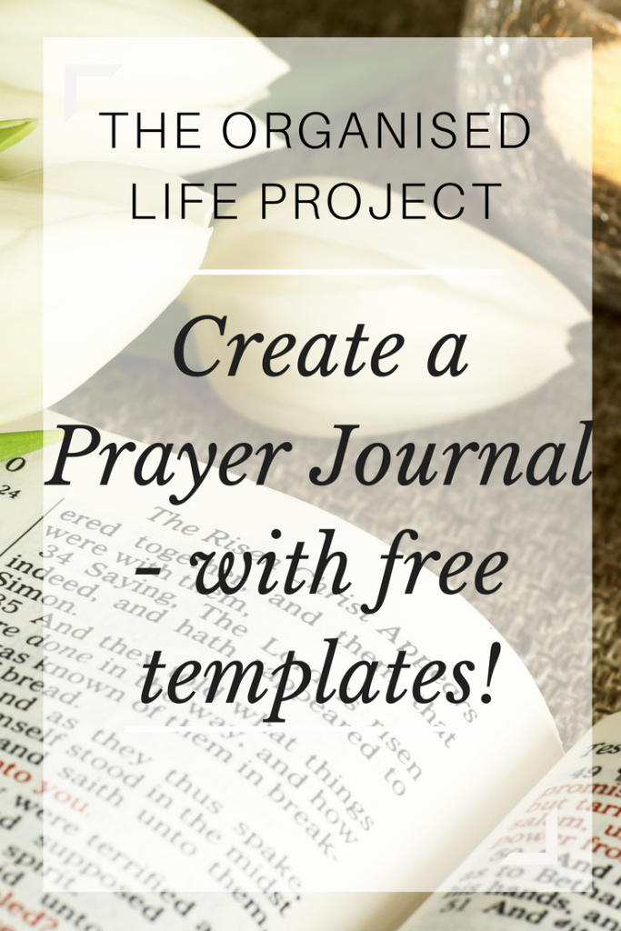 Prayer Journal Set One Up with A Free Template the