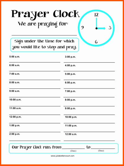 Prayer List Template Free Download Aashe