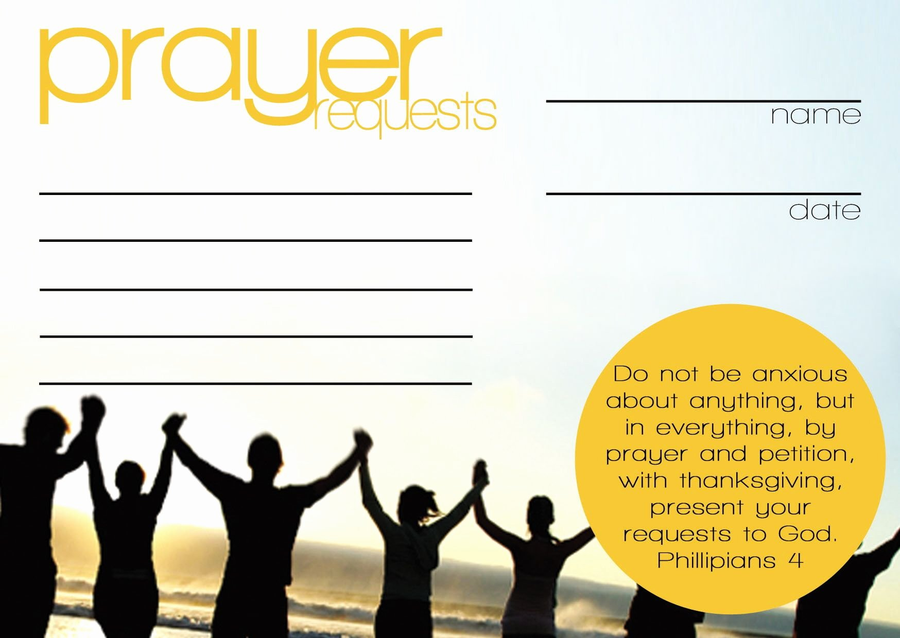 Prayer Request Cards Templates
