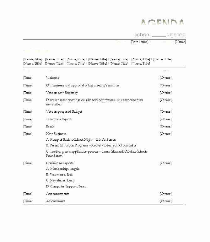 Pre Construction Meeting Agenda Template Image Collections