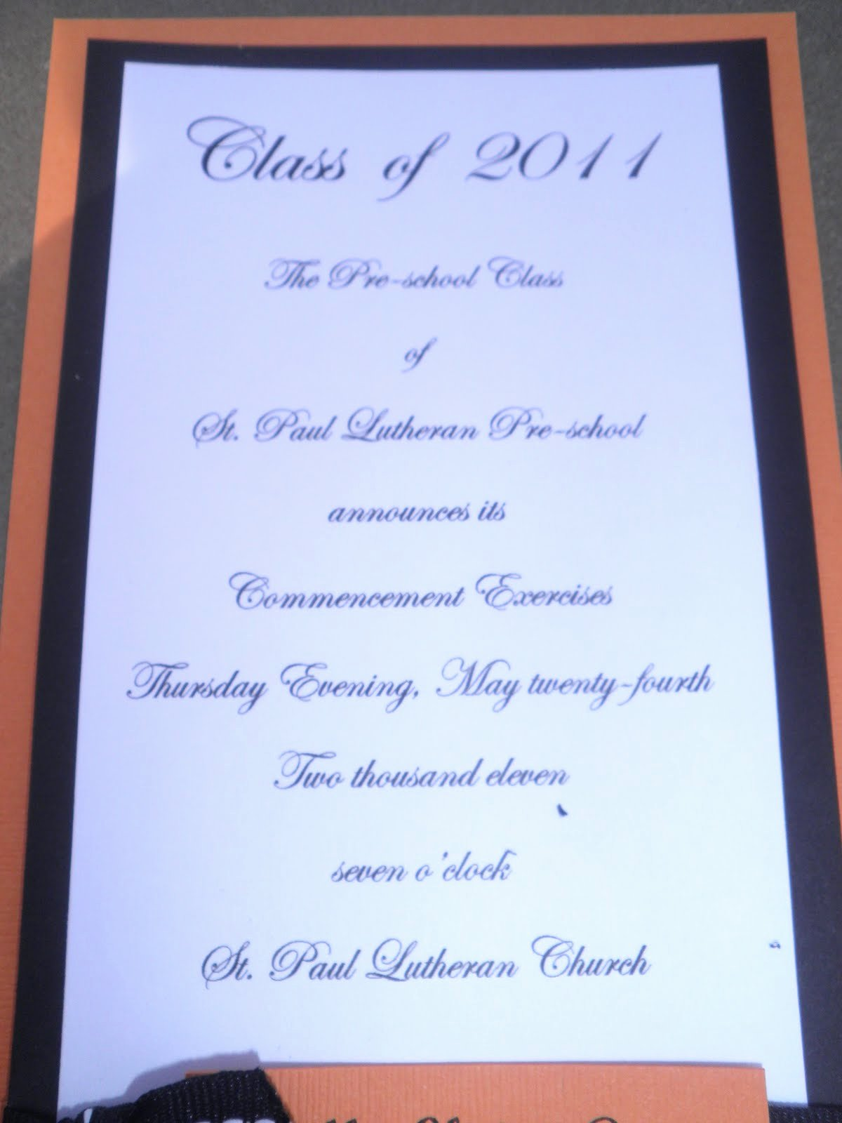 Pre K Graduation Program Template