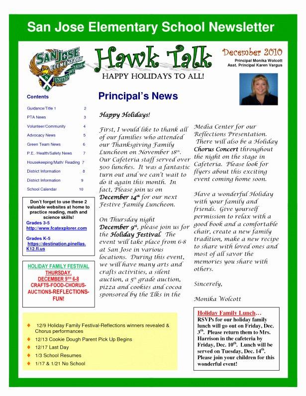 Pre K Newsletter Templates 6 Best Elementary School