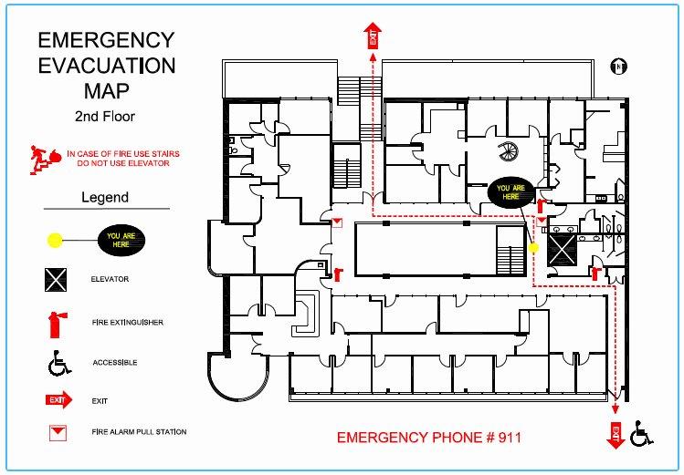 Precision Floor Plan Emergency Evacuation Maps
