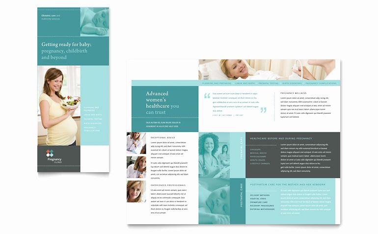 Pregnancy Clinic Tri Fold Brochure Template Word & Publisher