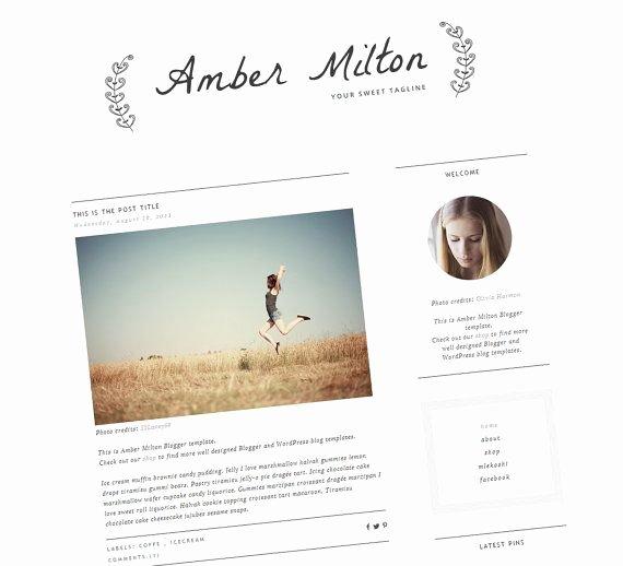 Premade Blog Template — Sleek Blog Design — Responsive