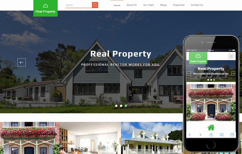 Premier Realty A Real Estate Category Flat Bootstrap