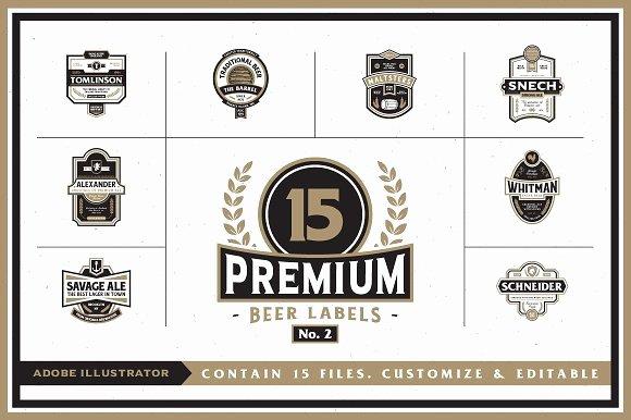 Premium Beer Labels No 2 Logo Templates Creative Market