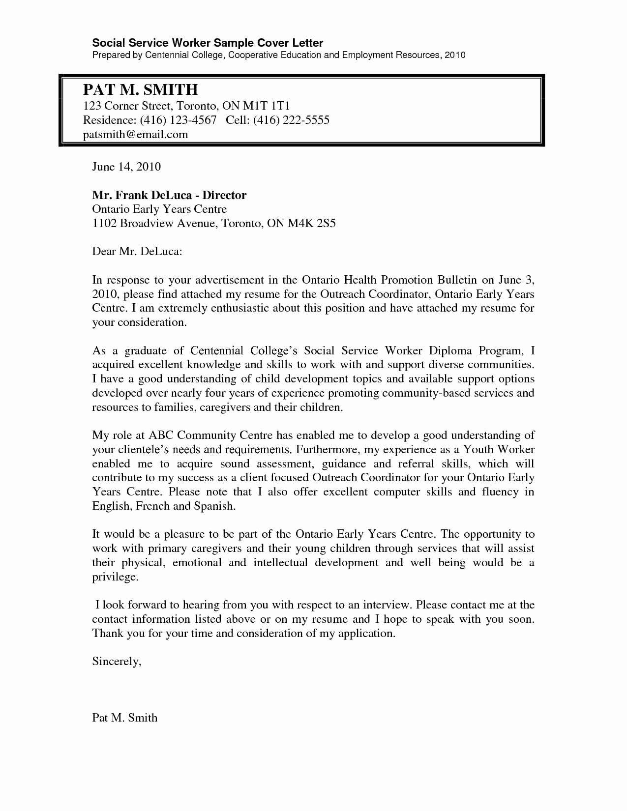Prepossessing Resume Cover Letters for social Work