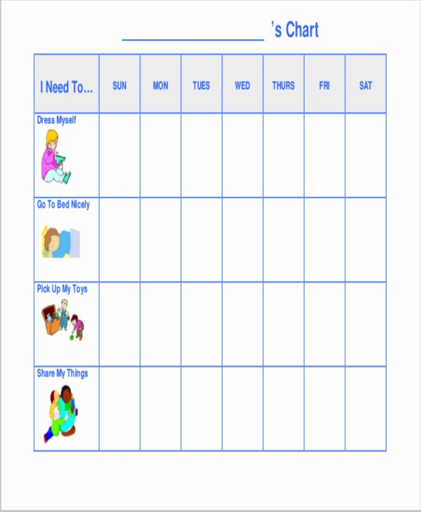 Preschool Behavior Chart Template Free Printable