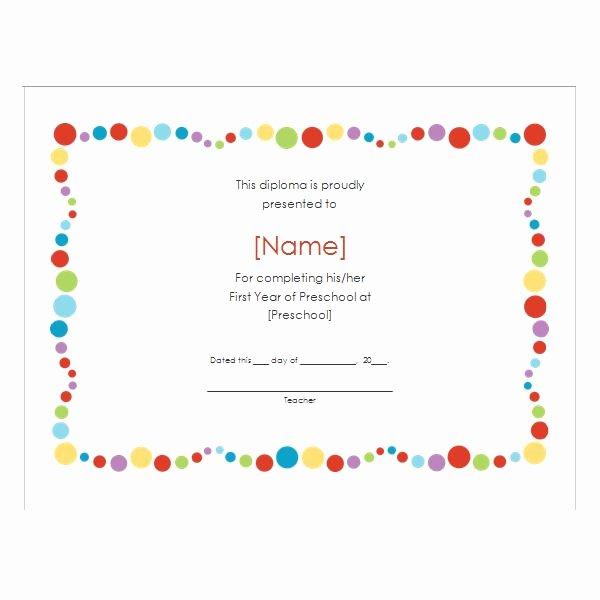 Preschool Certificate Border Cake Ideas and Designs