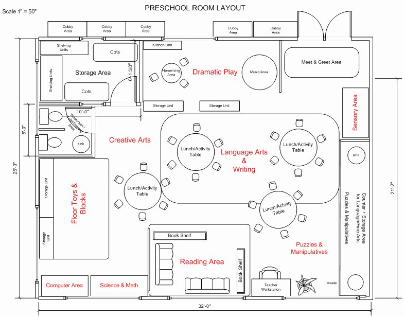 Preschool Classroom Layout House Plans