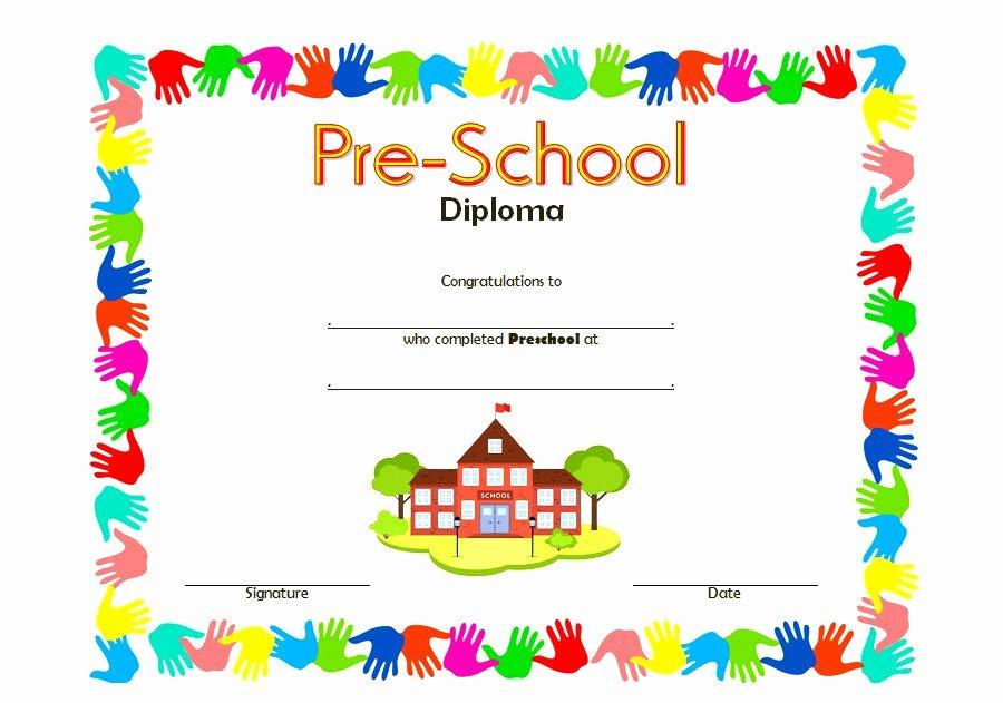 Preschool Diploma Certificate Template 8 – Best 10 Templates