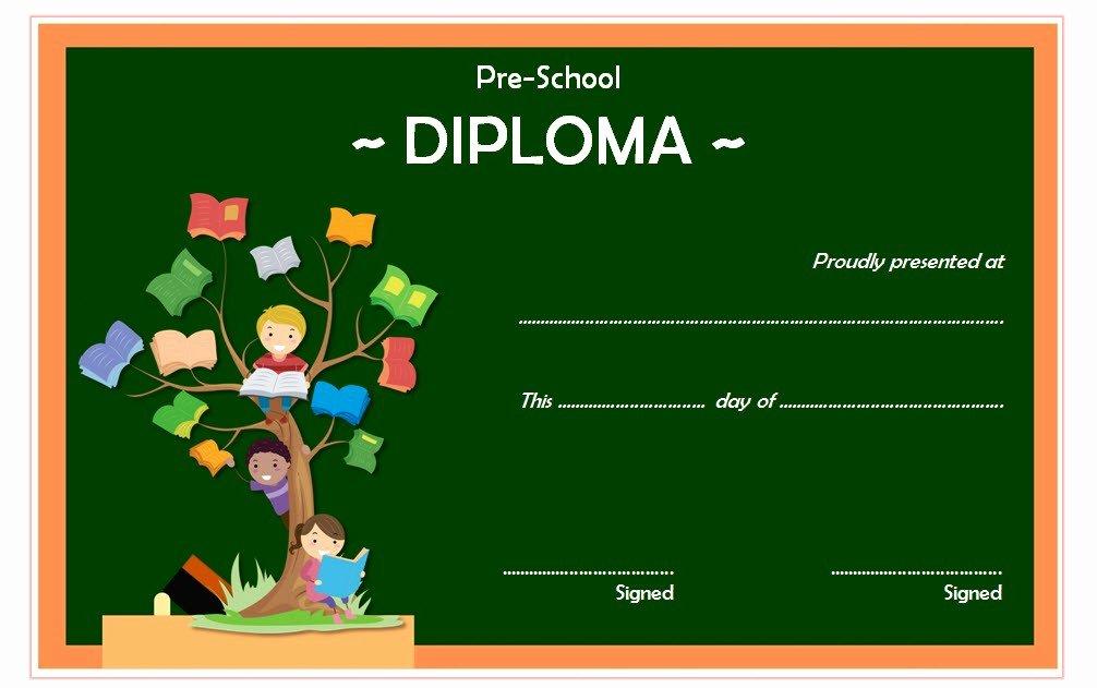 Preschool Diploma Certificate Template 9 – Best 10 Templates