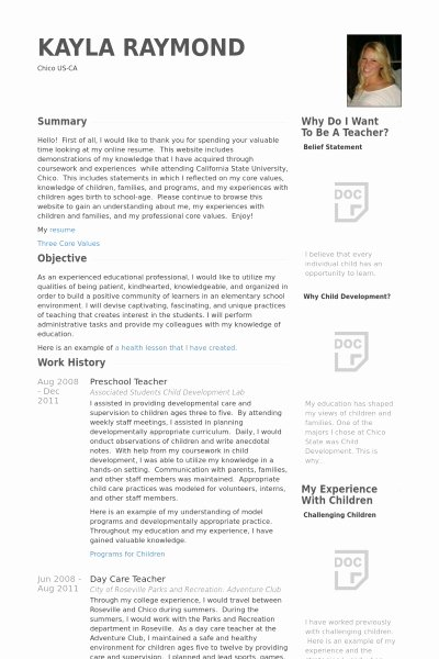 Preschool Director Resume Best Resume Collection