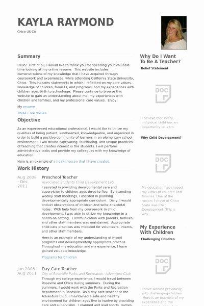Preschool Director Resume Best Resume Collection