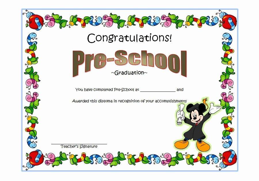Preschool Graduation Certificate Template 2 Ss – the Best