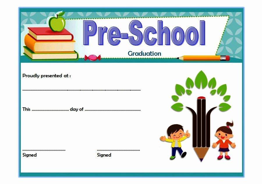 Preschool Graduation Certificate Template 5 Ss – the Best