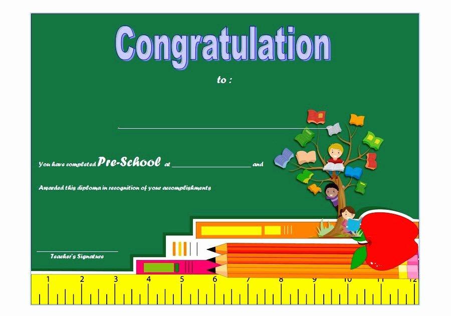 Preschool Graduation Certificate Template 9 Ss – the Best